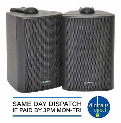 Outdoor Stereo Speakers Weather Resistant Pair Wall Mounted Loudspeakers New