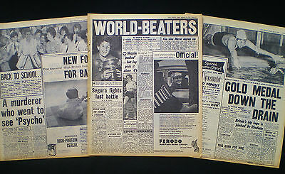 Natalie Steward Swimmer Rome Summer Olympics 3 Newspaper Pages 1960