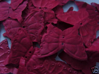 100 Burgundy Butterfly Quality  Silk Rose Petals/wedding/confetti/table Decor