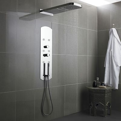 Interval Shower Panel Recessed Tower Massage System Waterfall Head & 6 Spa Jets