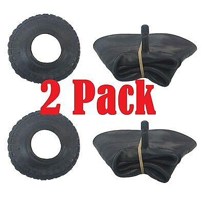 2 PACK Tyre & Innertube STRAIGHT VALVE 4.10 /3.50 - 4 Sack Truck Trolley Wheel