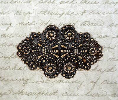 Large Antiqued Brass Ornate Victorian Stamping (1) - ANTFF0404 Jewelry Finding