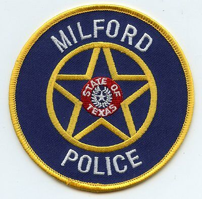 Milford Texas Tx Police Patch