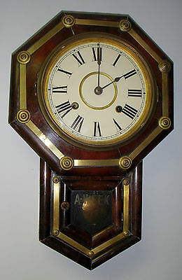 Antique Seikosha Art Deco Wall Regulator 8 Day Chime Clock
