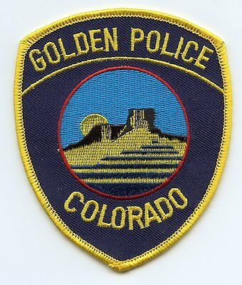 GOLDEN COLORADO CO colorful POLICE PATCH