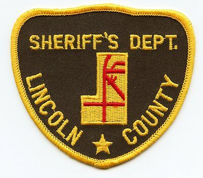 old vintage LINCOLN COUNTY COLORADO CO SHERIFF POLICE PATCH
