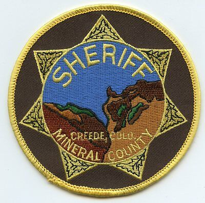 Mineral County Colorado Co Sheriff Police Patch