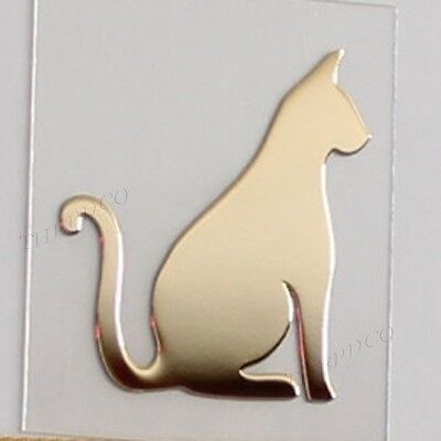 TPD 24K Gold Plated Anti Radiation Block Shield Cell Phone Sticker Cute Cat No1