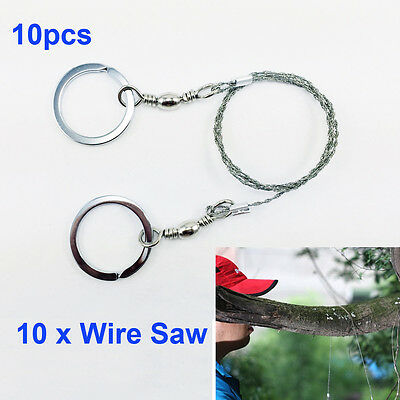 10pcs Stainless Steel Pocket Wire Saw Emergency Camping Hunting Survive Tool UK