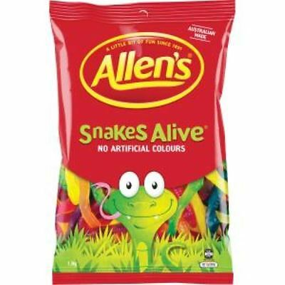 Allens Lollies Snakes Alive - Big 1.3 Kg Bag!