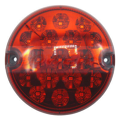 95Mm Led Round Rear Stop/tail Lamp Light Upgrade Land Rover 90 110 Defender Nas