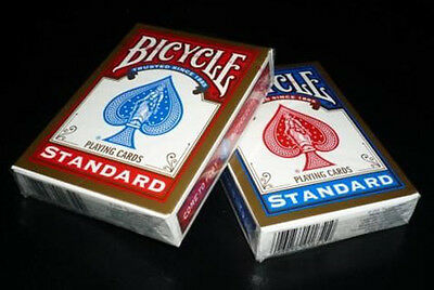 x1 Carte da Gioco Bicycle Standard Index - Dorso Blu/Rosso - Poker Size
