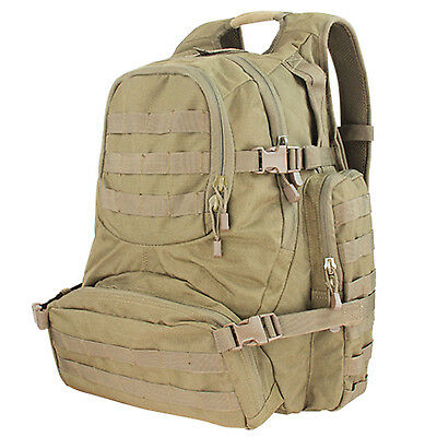 NEW CONDOR #147 Tactical MOLLE Urban Patrol Hiking Backpack Pack Go Bag TAN