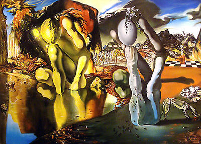 Metamorphosis of Narcissus Dali Home Decor Canvas Print, choose your size.
