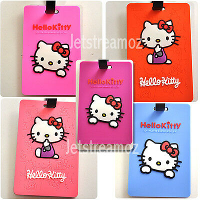 1 X Hello Kitty Luggage School Bag Tag Name Label ID SECURITY TRAVEL