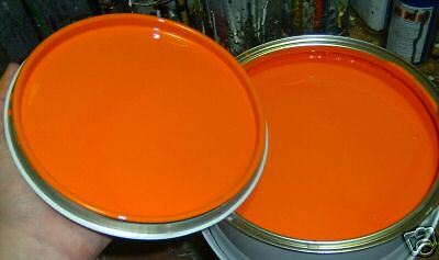 1Lt Bright Orange Cellulose Car Paint Gloss  Ready For Use/ RFU Pre Thinned