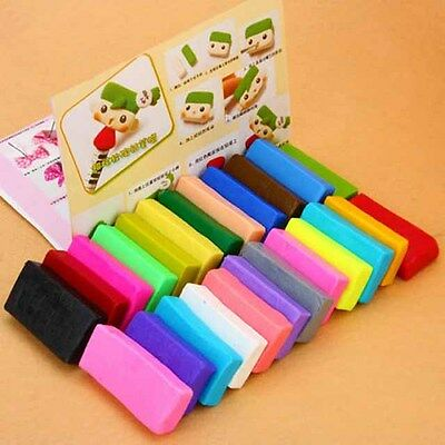 24 x Colorful Soft Polymer Plasticine Fimo Effect Clay Blocks DIY Educational J