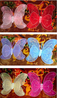 Butterfly Fairy Angel Wings  Costume Dance Party Halloween Christmas Child baby