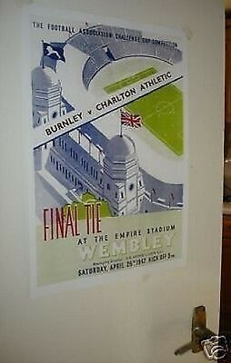 1947 FA Cup Final Poster of Programme Charlton Burnley