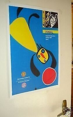 1999 Champions League Final Poster of Programme Man Utd