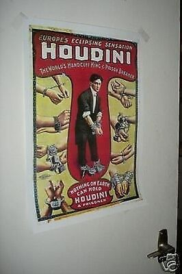 Harry Houdini Repro NEW POSTER Cuff Links