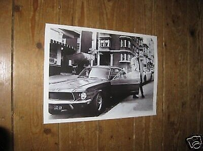 Steve McQueen Bullet Great New BW Poster Car