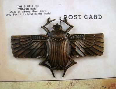 X-Large Antique Brass Scarab Stamping (1) - ANTFF2926-1 Jewelry Finding