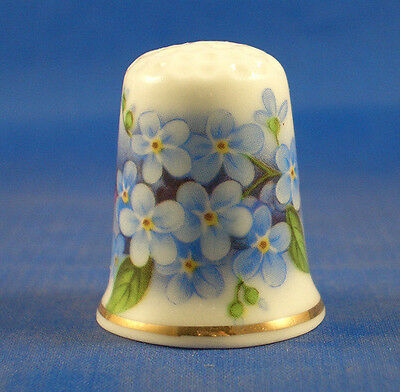 FINE CHINA THIMBLE - FORGET ME NOTS