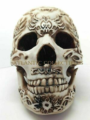 1f6bd5f3916 Halloween Decorative Primitive Tattoo Tribe Statue Skull Skeleton Figurine