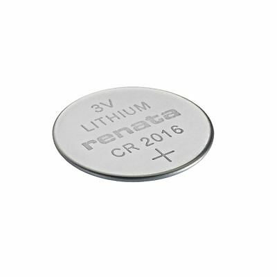 Renata CR2016 Swiss Made 3V Lithium Coin Cell Battery