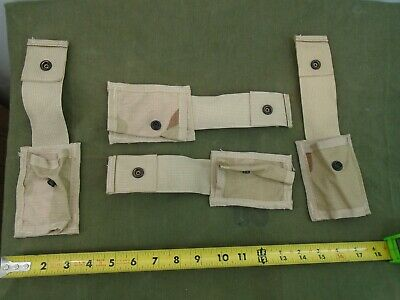 Genuine Us Military Desert Combat Camo Molle Ii Infantry 4 Piece Pouch Set New