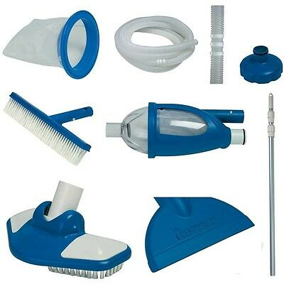 Intex Deluxe Maintenance Swimming Pool Cleaning Kit with Vacuum & Pole 28003E