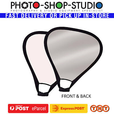 Fotolux Handheld Studio White & Silver Reflector Panel 82cm with Handle