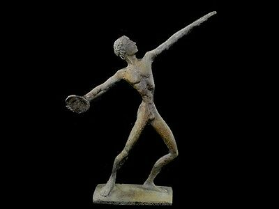 Discus Thrower Athlete Small Bronze Statue - Ancient Greece  - Discobolus