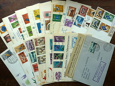 SOMALIA 1951-1961 FDC stamp collection, 20x first day covers, 1x airmail non FDI