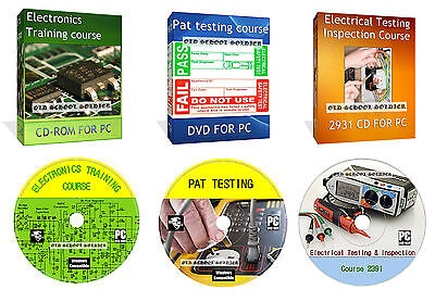 Complete Electronics Training Course Pat Testing, 2391 Inspection PC MAC DVD Set