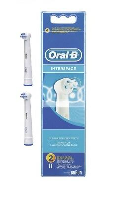 Braun Oral-B IP17-2 Interspace Replacement Rechargeable Toothbrush Head (Pack of