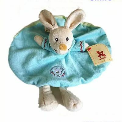 Nicotoy Baby Comforter Cuddly Puppy Plush Rattle Security Blanket Doudou GIFT