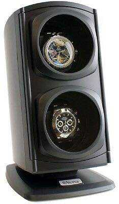 Versa Automatic Double Watch Winder - Black  4 TPD Settings & 3 Directional