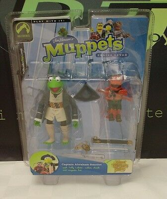 The Muppets Kermit The Frog Captain Abraham Smollet Action Figure Palisades