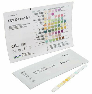 10 Strips (2x5 Pack) - Urinalysis 10 Parameter Professional/GP Urine Test Sticks