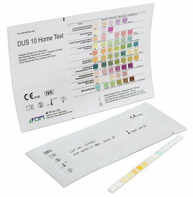Urine Test Strips 10 Parameter Urinalysis Professional/GP Dipstick CE (2x5 Pack)