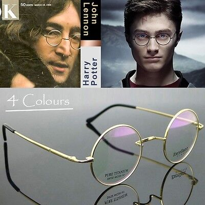 Harry Potter Glasses Round Titanium Mens Eyewear John Lennon Vintage Wire Frame