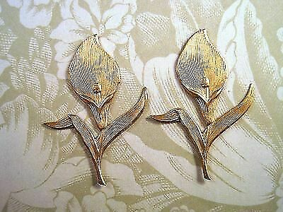 Raw Brass Calla Lily Stampings (2) - RAT149 Jewelry Finding