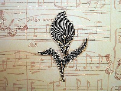 Oxidized Brass Plated Calla Lily Stamping (1) - BORAT149 Jewelry Finding