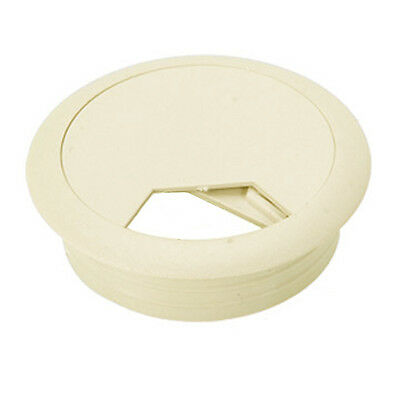 "Eagle Cable Grommet 1 7/8"" Inch Furniture Hole Beige White Snap In Paintable"