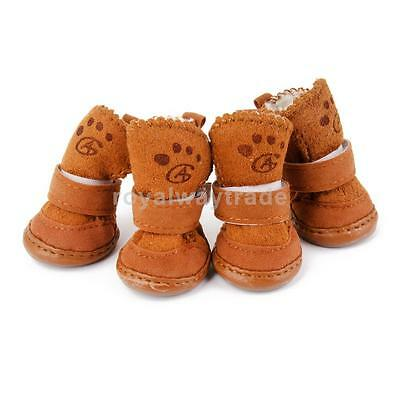 Pet Puppy Dog Chihuahua Shoes Boot Warm Winter Collie Boots Clothe Apparel S