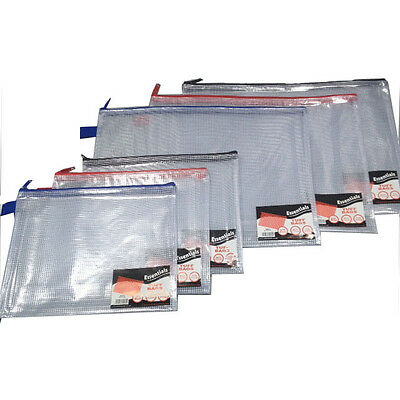 Tuff Zip Bag Document Storage Filing Wallet - A5 & A4+ Sizes. Singles and Packs