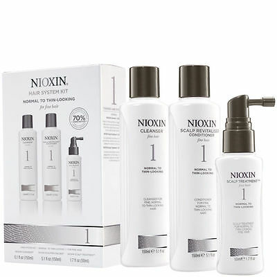 Nioxin Hair Loss Kits - System 1 2 3 4 5 6 Available