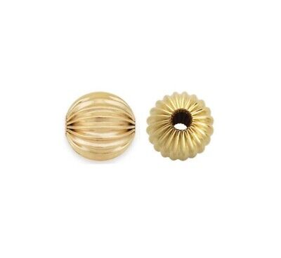 14k Gold Filled 4mm Corrugated Spacer Beads 20pcs #6105-4